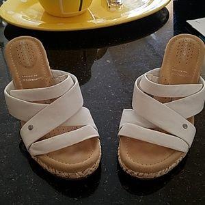 Rockport white wedge sandals